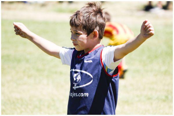 Gran encuentro de fútbol en Santa Irene